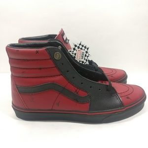 Vans Shoes - Vans SK8-HI Marvel Deadpool Leather Limited f7706f309